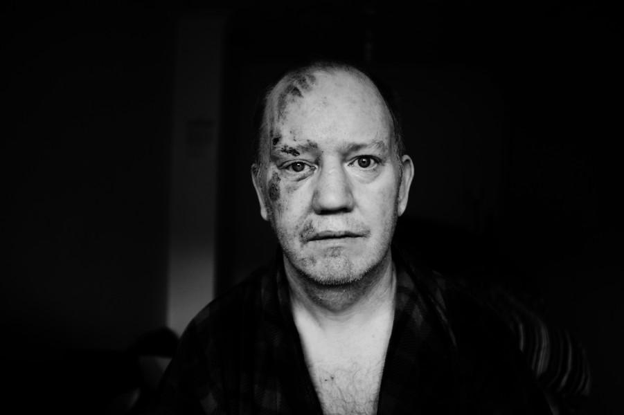 Simon. Not 'an epileptic', but a John Wayne fan © Jim Mortram